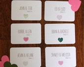 Mismatch Hearts Seating Cards Set