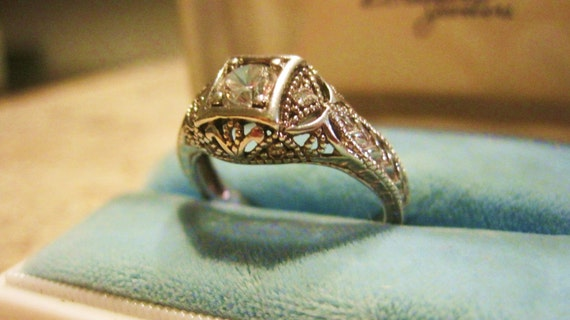 Reserve for Jacqline Vintage Engagement Ring Sterling