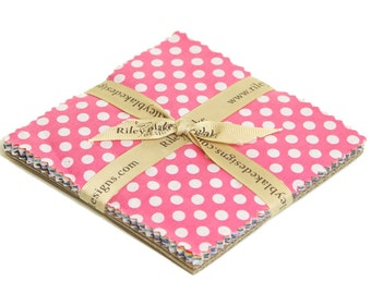 "Dots Small 5"" squares Charm Pack by Riley Blake Designs for Riley Blake, 14 pieces"
