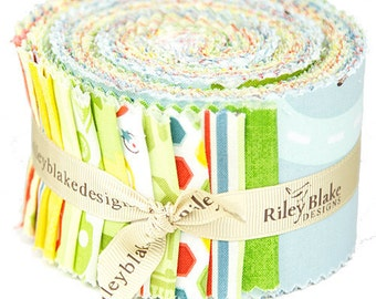 "Cruiser Blvd 2 1/2"" Strips Rolie Polie by Sheri McCulley Studio for Riley Blake, 24 pieces"