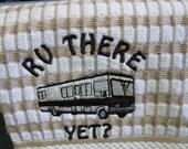 please state color.Class A rv Kitchen towel comes in black solid, dark brown, beige, aqua,red/black check