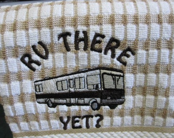 Out of beige,please state color.Class A rv Kitchen towel comes in, dark brown, beige, aqua,