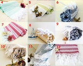 Fast Shipping 10 Bridesmaid Towels NATURAL Cotton Eco Friendly PESHTEMAL Hand Woven Turkish Cotton Bath Beach Spa Yoga Pool Towel