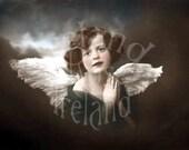 Sweet Angel-Vintage Victorian Postcard-Digital Image Download