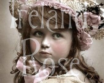 Sasha-Victorian Girl-Vintage Postcard-Digital Image Download