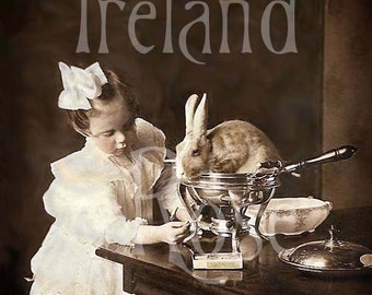 Welsh Rabbit-Vintage Photo-Victorian Girl-Digital Download