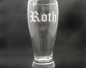 11 Custom Engraved Pilsner Glasses for Groomsmen