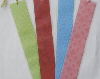 "SALE ITEM Price is marked (4) Handmade ""Pastel"" Bookmarkers"