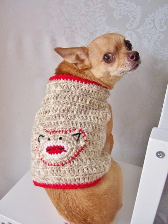 Crochet Dog Sweater Sock Monkey Sweater Sweater For Small