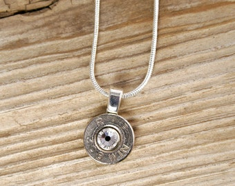 Bullet Necklace / 308 Nickel Bullet Head Necklace WIN-308-N-SBHN / Lightweight Necklace / Comfortable / Bullet Head Necklace / Custom