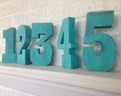 Wooden Numbers, Stand Alone, 6 inches tall, Chunky, Photo Prop
