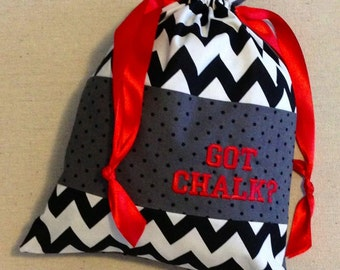 Item(C3D) Personalized Gymnastics Grip Bag Got Chalk Chevron