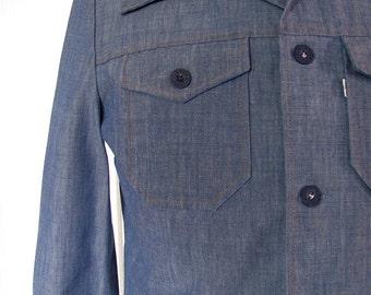 The 1970's Levi's Gentleman's Jeans Denim Shirt Jacket