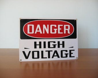 Vintage Danger High Voltage Sign