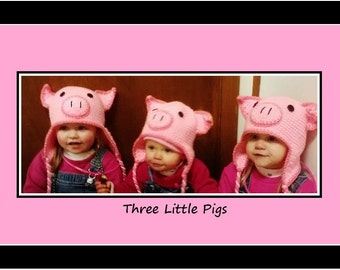 Pig Hat, Piggy Costume, Pink Piggy Hat, Toddler Pig Hat, Newborn Pig Hat, Baby Photo Prop, Pink Pig Hat, Pig Crochet Hat, Crochet Pig Hat