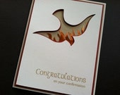 Confirmation Art Card with Dove