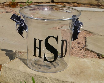 Personalized Acrylic Mini Ice Bucket - Monogram Wine Chiller