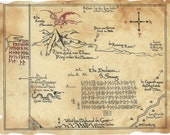 Thrór's Map, The Hobbit inspired, Thorin's Map
