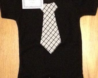 Black and Gold Baby Sunday's Best Necktie Onesie
