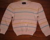 women's vintage striped sweater.