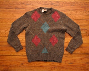mens vintage italian argyle sweater