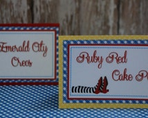 Wizard of Oz - Place Cards - Set of 5