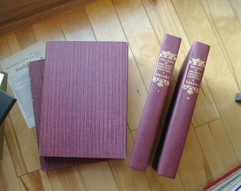 Artist Biography LIVES of EMINENT PAINTERS 2 volumes art books w/slipcases Giorgia Vasari vintage 1960s