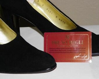 Suede Italian Heels Bruno Magli Italy In Original Box Certificate Of Authenticity Included