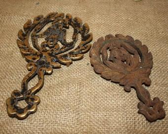 Ornate Metal Trivets - set of 2