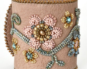 Designs-Bead Kit Only-Elegant Garden-Beige Suede-Pattern Sold Separately