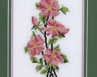 Wild Rose -  Helen Burgess Design 4020 - Counted Cross Stitch Chart