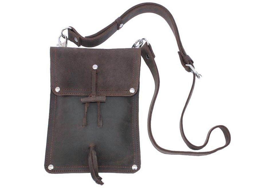 Leather Shoulder Pouch Satchel Man Bag Purse iPad Mini Case