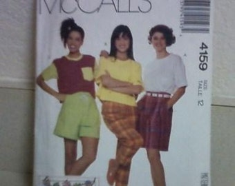 McCalls 4159 Top, Pants, Culotte, Shorts from 1989