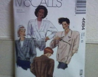 McCalls 4684 pattern for jackets 1990
