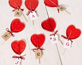 Personalised Heart Shaped Lollipop