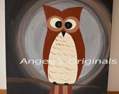 What a Whoot- Original Painting by Angee Alvis