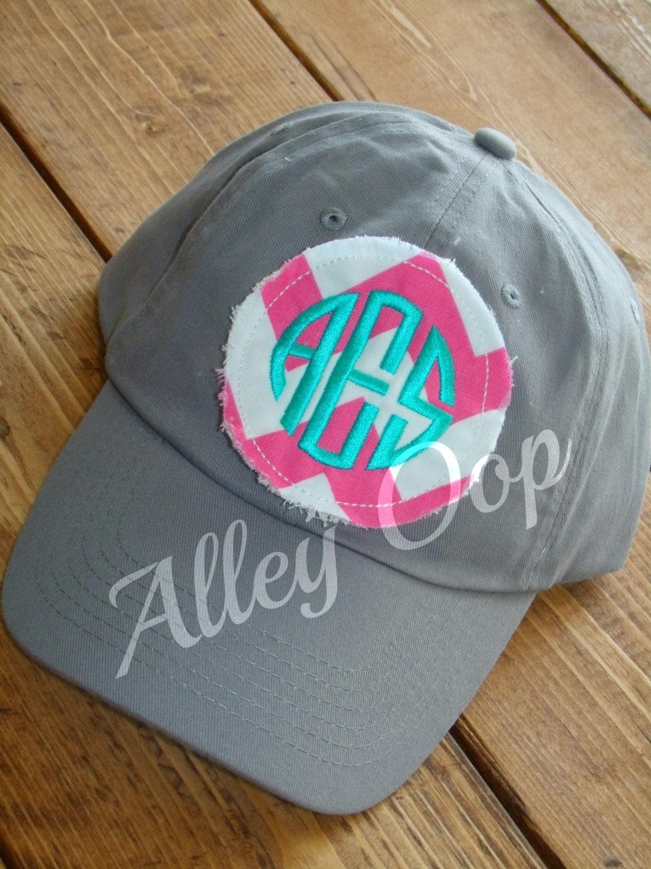 Preppy Monogrammed Baseball Cap Hat Bridesmaid Sorority