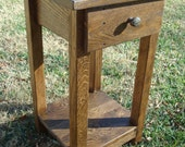 Reclaimed Wood Side Table Small Side Table