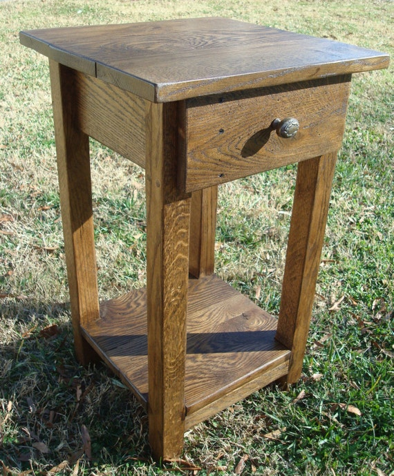 Reclaimed Wood Side Table Small Side Table Rustic Wood