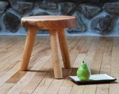 MilkMaid Stool Wooden Three Legged Stool Eco Friendly Cherry Furniture
