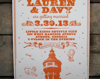 That Special Place Custom Letterpress Wedding Invitations • Customize with your Wedding Location