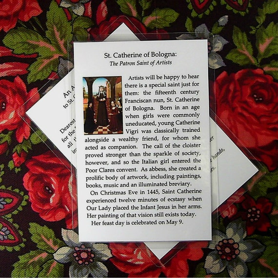 St. Catherine of Bologna Prayer Card for Artists