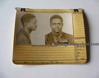 1946 MUG SHOT Allegheney County  Pa Police Criminal African American Listed as Chocolate