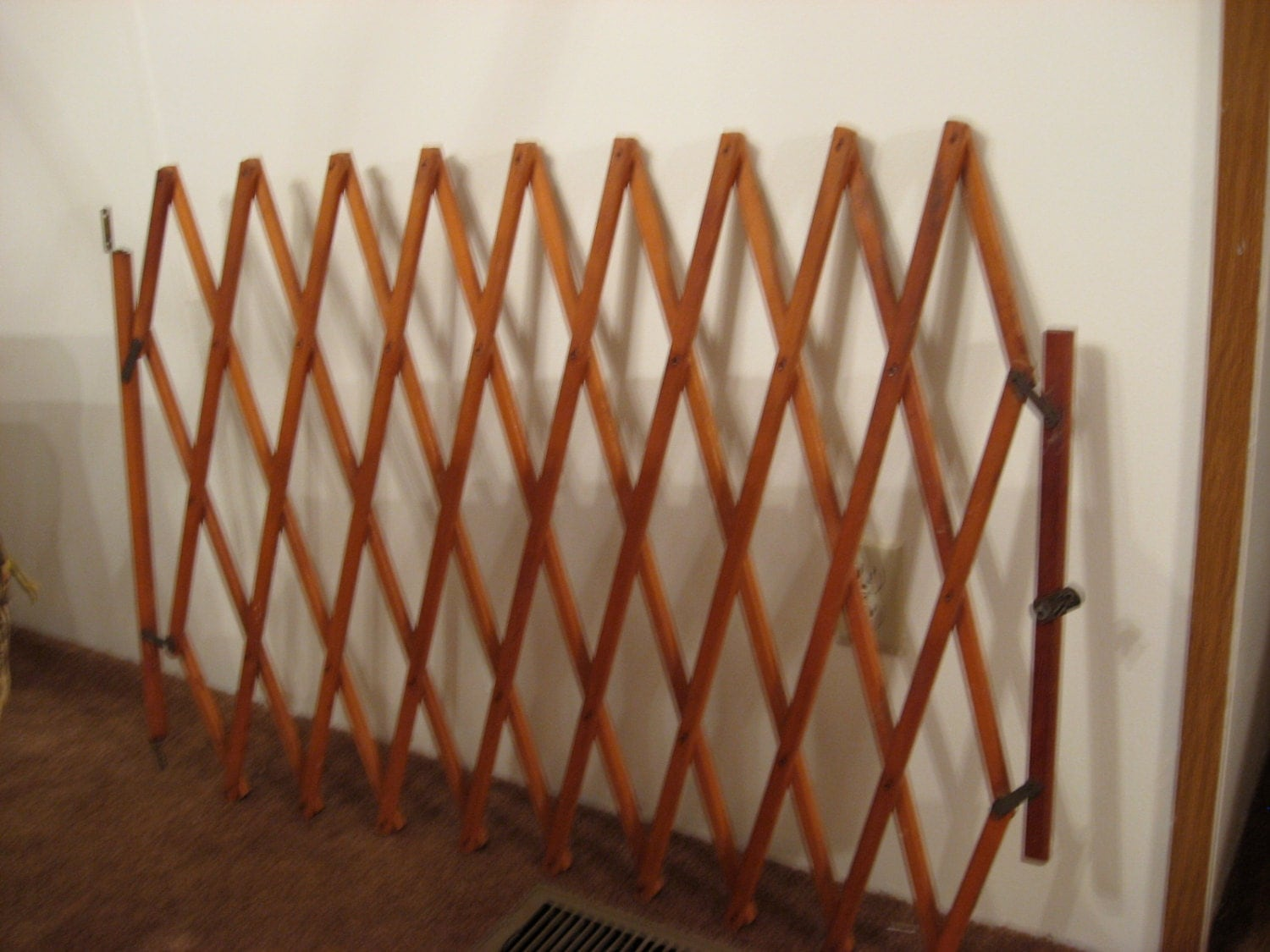 Vintage Wooden Baby Gate