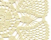 Crochet doily, lace doily, table decoration, crocheted place mat, center piece,doily tablecloth, table runner, napkin, cream, beige