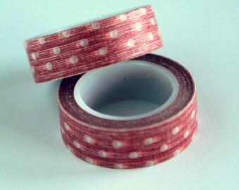 Washi Tape: RED POLKA DOT