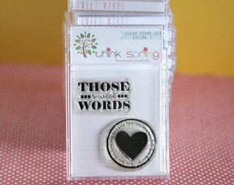 Clear Stamp Volume 1 - SWEET WORDS