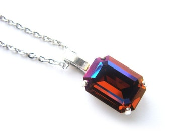 Ruby Crystal Necklace Special Edition - Color changing