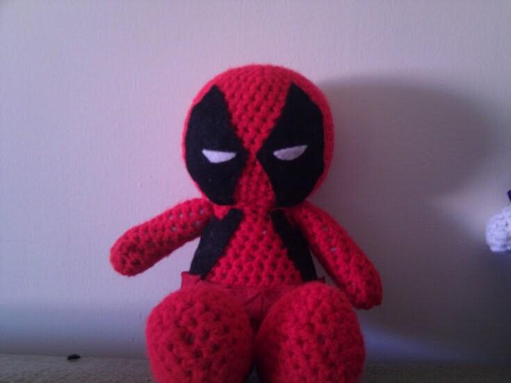Deadpool Knitting Pattern : Crochet Deadpool Doll