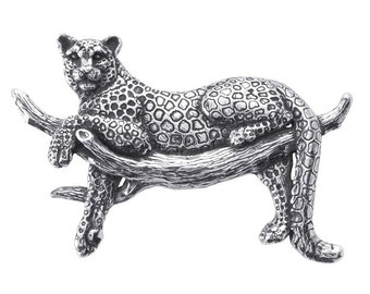 Sterling Silver Spotted Leopard Festoon Pendant